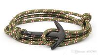 ancla pulsera de aleación al por mayor-2017 HOT Alloy Anchor Bracelet Pulsera de cuerda de múltiples capas para mujeresHombres pulseras de la amistad de alta calidad tom esperanza