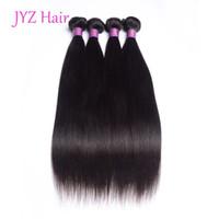 Wholesale Brazilian Stright - Peruvian Virgin Stright Human Hair Weave Bundles Unprocessed Indian Malaysian Brazilian Natural Color Human Hair 4 Pcs Hair Wefts Extensions