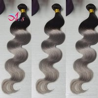 Wholesale 1b grey hair weave for sale - 7A Brazilian Hair Weaves Body Wave B Grey
