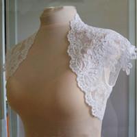 Wholesale Mini Bridal Bolero Jacket - Charming 2016 New Sexy Stylish Bridal Wedding Jacket Shawl Bolero Wraps Wedding Accessories Lace Appliques Mini Coat