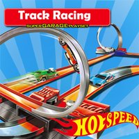 Wholesale Hot Wheels Tracks - Hot Wheels Workshop Track Builder System Super Track Racing Set kids toys +Power Booster Kit wholesale (165cm 10 track layouts)