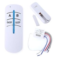 Wholesale Wireless Lamp Way - Wholesale- Wireless 2 Ways ON OFF 220V Lamp Remote Control Switch Receiver Transmitter