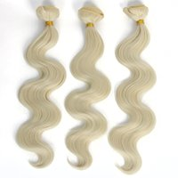 Wholesale Cheap Blonde Curly Weave - 2017 Fashionkey 3Bundles 100g pcs Synthetic Curly Hair Weave Cheap Body Wave Hair Extensions Heat Resistant Length Can Choose SF233
