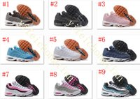 Wholesale Womens Discount Winter Boots - New Colour womens Running Shoes womens Air Cushion 95 Sneakers Boots 20 anniversary Authentic 2017 Walking Discount Sports Shoes 36-40