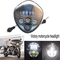 Wholesale Victory Cross - 40w Victory Motorcycle LED Headlight Kit Motorcycle LED Headlight Headlamp For Polaris Victory CROSS MODELS