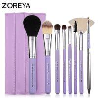 Wholesale Brush Zoreya - Zoreya Brand Latest Makeup Brush Set 8 Pcs Make Up Brushes of Wood Handle As Powder Lip Foundation Fan Brush or Gift for Woman