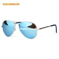 Sports oval silver labels - COLOSSSEIN BLUE LABEL Fashion Metal Sunglasses Men Retro Oval Frame Glasses Popular Polarized Style New Trendy Hot Sale