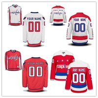 Wholesale Capital Names - Custom Washington Capitals Mens Womens Youth Red White Third Winter Classic Personalized Any Name Number Stitched Ice Hockey Jerseys S-4XL