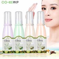 Wholesale Beauty Olive Oil - Face Makeup Olive Sun Protection Concealer Cosmetics Foundation Liquid Cream 80ml Anti-UV Moisturizing Brightening Suncreen Beauty Cosmetic