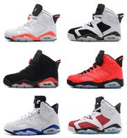 Air rétro 6 hommes femmes chaussures noir chat Carmin Infrared Angry bull bleu Oreo Olympic Maroon WhiteInfared Chrome sneaker