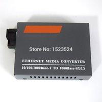 Wholesale Media Converter Single Mode - Wholesale- Free Shipping HTB-GS-03 Gigabit Fiber Optical Media Converter 1000Mbps Single Mode Duplex SC Port 20KM External Power Supply
