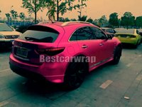 Wholesale Chrome Decals Stickers - High quality Satin Chrome Pink Vinyl Car Wrap Film with air bubble Free For Luxury Vehicle Graphics CAST VINYL decals 1.52x20m