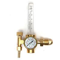 Wholesale Gas Welding Regulators - Wholesale- CO2 Argon Pressure Reducer Flow Meter Control Valve Regulator Reduced Pressure Gas Flowmeter Welding Weld Flowmeter
