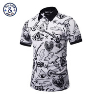Wholesale Musical Sleeve - 2017 polo famous brand polo 3d print musical instroment mens short sleeve slim shirts casual skull printed new design fashion sweatshirts