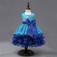 Wholesale Evening Dresses For Baby Girls - New Costucme Girls Princess Lace Dress Sleeveless Chiffon Children's Evening Lace Dresss Clothing For Baby Girl Party