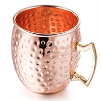 Moscow Mule Mug Bronze Cups Cocktail Drinking Mug 3 Styles Beer Cups Honeycomb Surface Layer Coffee Mugs Tazze in acciaio inox Colore nero