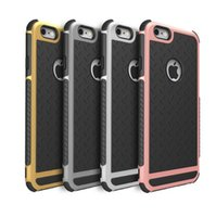Wholesale Iphone Rubber Shell Case - Case Cover For Apple iPhone 5S 6S 7 7plus Ultra Thin Shockproof Rubber PC and TPU Hybrid High Quality Shell 1pcs free shipping