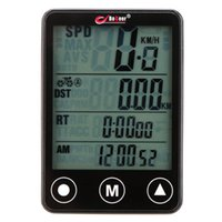 Wholesale odometer bike wireless - Wireless Bicycle Computer Speedometer Odometer Multifunction Touch Button LCD Backlight Waterproof Bike Computer
