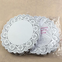 Wholesale Cake Doilies - 7.5 inch Cake Paper Doyleys Placemat Oil-absorbing Sheet Paper Doily Bakery Package Decoration Party Supplies ZA3829
