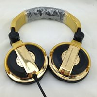 Wholesale 2017 New Professional Monitor Music Hifi Headphones Foldable DJ Headset Without Mic Bass Noise Isolating Stereo Earphones