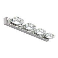 kleiderlampen großhandel-Moderne kristall led spiegel lichter kreative mode bad waschraum wandleuchten ankleidezimmer wandleuchte