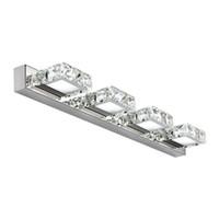 retrovisores modernos al por mayor-Moderno Cristal LED Luces de Espejo Creativa Moda Baño Aseo Apliques de Pared Vestidor Lámpara de Pared