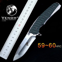 Wholesale knife ball online - High quality tactical folding knife Ball bearing Flipper Knife HRC D2 blade G10 handle Tactical Survival Folding knives EDC tool