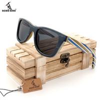 91f551aaf8 BOBO BIRD AG011a Handmade Original Wood Glasses Colorful Wooden Frame  Polarized Lens Mens Sunglasses As Mens Gift Accept Drop Shipping OEM