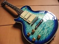 Wholesale Ace Frehley Left Handed - wholesale Free Shipping Left Handed LP Ace frehley signature Electric Guitar In Blue Burst 110615