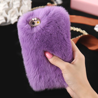 Wholesale cover note rabbit - Rabbit Hair Soft Smooth Touch Fur Case Shockproof Protective Women Girl Lady Cover for Apple iPhone 6 6S 5S NOTE 4 3 PLUS S4 S5 S3 S6 GALAXY