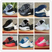 Wholesale Valentines Day Pig - 2017 cheap air retro 12 Low Mens basketball shoes ovo white GS Valentines Day Dynamic white Pink GS Barons flu game taxi Sports sneakers