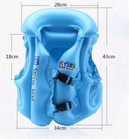 Wholesale Baby Swim Raft - Babies Inflatable Life Vest Water Fun Sports Swimming Vest Air Floating Island Buoy Raft Outdoor Swimwear Kids Cute Life Jackets