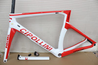 Wholesale Carbon Road Frame 48cm - 2017 Carbon Road Frame Cipollini NK1K Carbon Road Bike Frames 3K carbon bicycle framework XXS XS S M L, free shipping