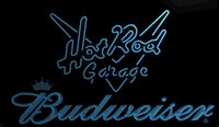 Wholesale hot rods cars - LS1952-b-Hot-Rod-Garage-Car-Budweisers-Bar-Neon-LED-Light-Sign.jpg