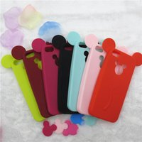 Wholesale Mouse Silicon Case - Hot! Lovely Cartoon Mickey Mouse Ear Phone Back Case Cover For iPhone 7 soft Silicon For iPhone 5S 6 6s 7 plus Case