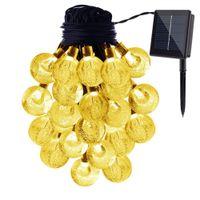 Wholesale crystal decorative - Globe String Lights 20 Ft 30 Crystal Balls Waterproof LED Fairy Light Outdoor Starry Lights Solar Powered String Lights Decorative Lighting
