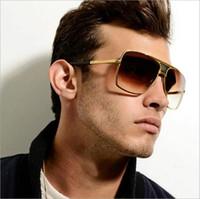 men s óculos polarizados de alumínio venda por atacado-Moda óculos de sol dos homens de design de marca de alumínio dos homens polarizados óculos de sol óculos de sol óculos de sol espelho dos homens óculos de sol goggle
