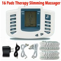 Wholesale Body Massage Slimming - Electrical Stimulator Full Body Relax Muscle Therapy Massager Massage Pulse tens Acupuncture Health Care Slimming Machine 16 Pads