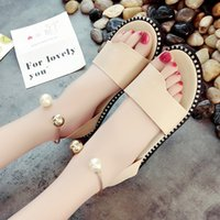 Wholesale Hot Pink Dress Sandals - Hot Sale Black Pu White Pink free Shipping Women Flat 2017 Summer New Shallow Shoes Fashion Dress Gladiator Solid Cover Heel Sandals