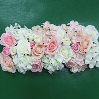 Wholesale Corner Display - Artificial Silk Flower Wedding Road Lead Hydrangea Peony Rose Flower for Wedding Arch Square Pavilion Corners Decorative Flores