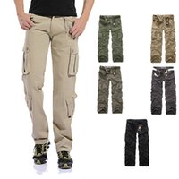 Wholesale Men S Military Bags - In the spring of 2016 military men washed overalls pants color code bags leisure trousers warm free delivery