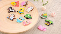 Wholesale Kid S Stickers - Creative Giraffe Owl Cat Pig Fish Sheep Fridge Magnets for Kids Silicon Gel Magnetic fridge Magnet Animal Magnets