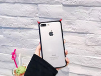 Wholesale Cheap Cute Cases For Iphone - Little devil ear monster phone case cute fashion cheap back cover for iphone 7 plus 6s plus 6 whole pack protection