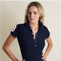 Wholesale Popular Women Clothing - wholesale 2016 New high quality Fashion womens tops shirt the most popular women clothes 100% cotton women Short sleeve polos
