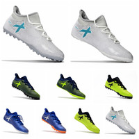 Wholesale Gold Tango Shoes - 2017 cheap turf soccer cleats X Tango 17.3 IC TF mens soccer shoes indoor authentic football boots original ace 17 Purecontrol Grey