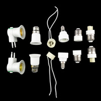 Wholesale Bulb Holder For E14 - 10pcs Lamp Holder Converter E27  GU10   B22  E14  G9  EU plug Lamp Socket Base Converter Splitter Adapter for Bulb lighting