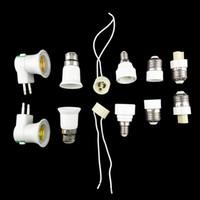 Wholesale E14 G9 Adapter - 10pcs Lamp Holder Converter E27  GU10   B22  E14  G9  EU plug Lamp Socket Base Converter Splitter Adapter for Bulb lighting