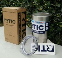 Wholesale RTIC Oz Stainless Steel Tumbler RTIC oz Tumbler Camo Stainless Steel Tumbler Cup with lid DHL free