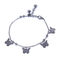 Wholesale Silver Star Charm Pieces - 12 pieces Lot Butterfly Charm Anklets boho Chic Rhinestone Crystal Bead Sandal Beach Ankle Chain Anklets Body Jewelry for Women