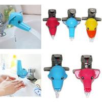 Wholesale Bathroom Helpers - Kids Cartoon Wash Helper Children Guiding Gutter Faucet Extender Bathroom Hand Washing Water Chute E2shopping